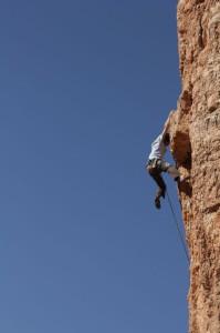 chad climbing at the tower near hurricane, ut