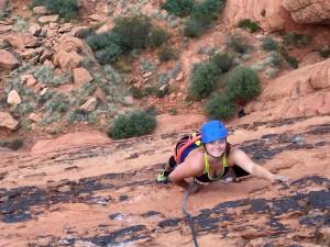 climbing snow canyon
